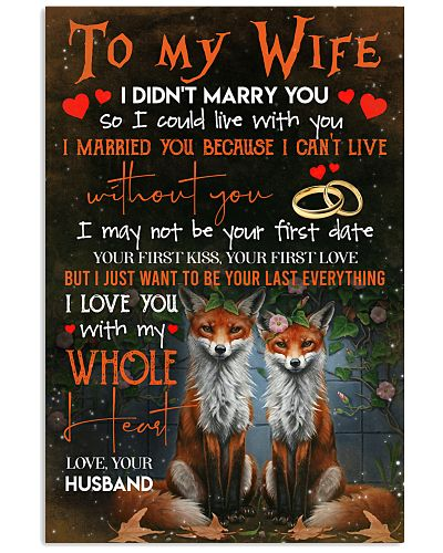 TO MY WIFE - FOX - I LOVE YOU