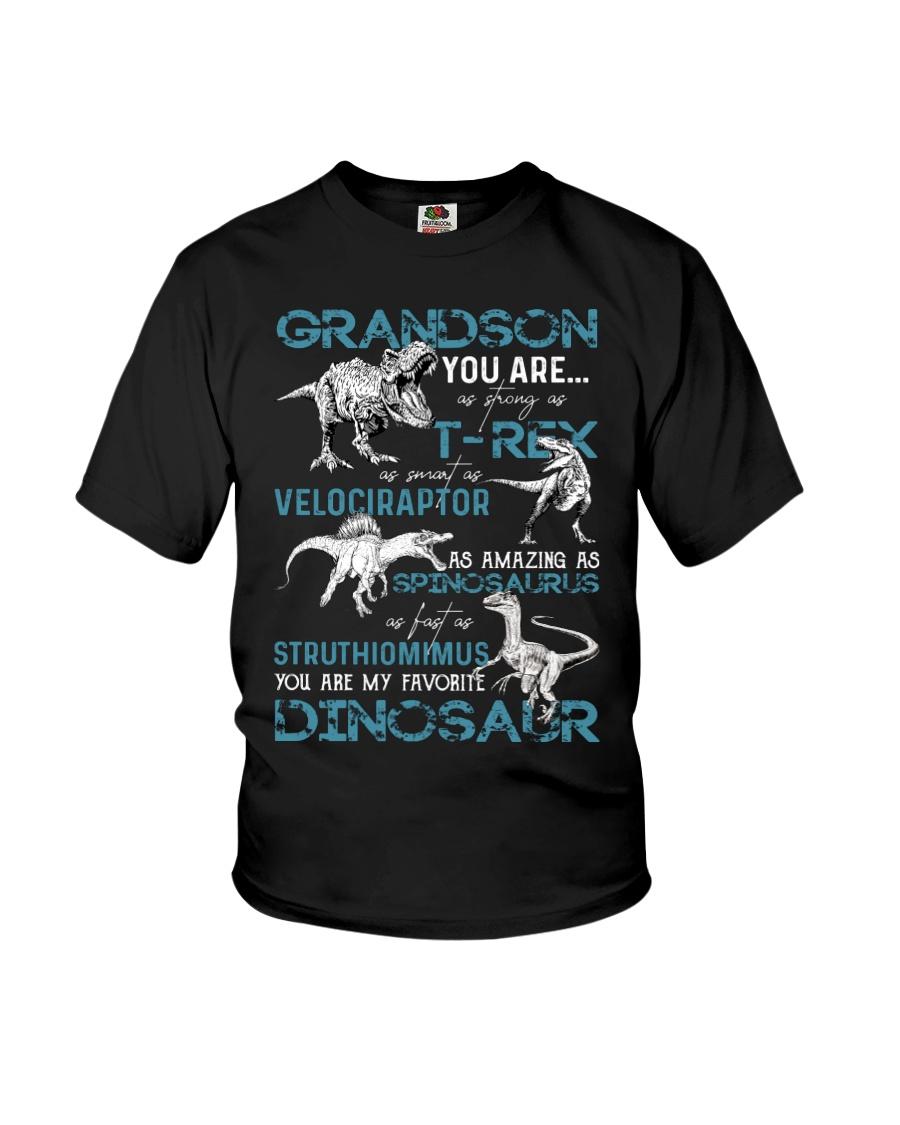 GRANDMA TO GRANDSON - DINOS - FAVORITE Youth T-Shirt