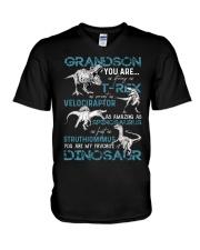 GRANDMA TO GRANDSON - DINOS - FAVORITE V-Neck T-Shirt thumbnail