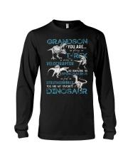 GRANDMA TO GRANDSON - DINOS - FAVORITE Long Sleeve Tee thumbnail