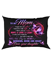 PILLOW - TO MY MOM - MY LOVE WITHIN IT Rectangular Pillowcase back