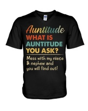 AUNTITUDE - YOU WILL FIND OUT V-Neck T-Shirt thumbnail