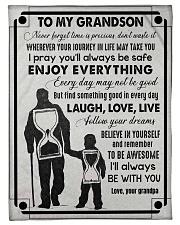 Grandpa to Grandson - Laugh Love Live  Fleece Blanket tile
