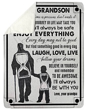 "Grandpa to Grandson - Laugh Love Live  Large Sherpa Fleece Blanket - 60"" x 80"" thumbnail"