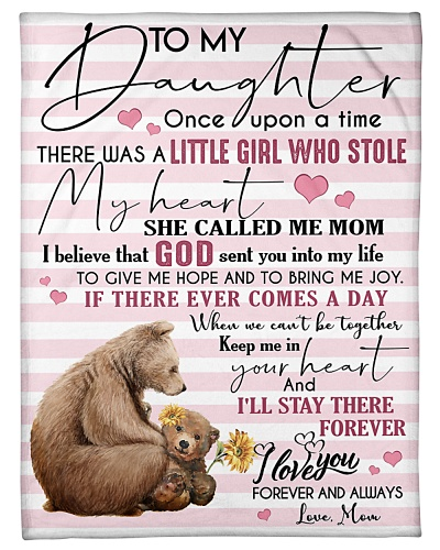BLANKET - TO MY DAUGHTER - BEAR - ONCE