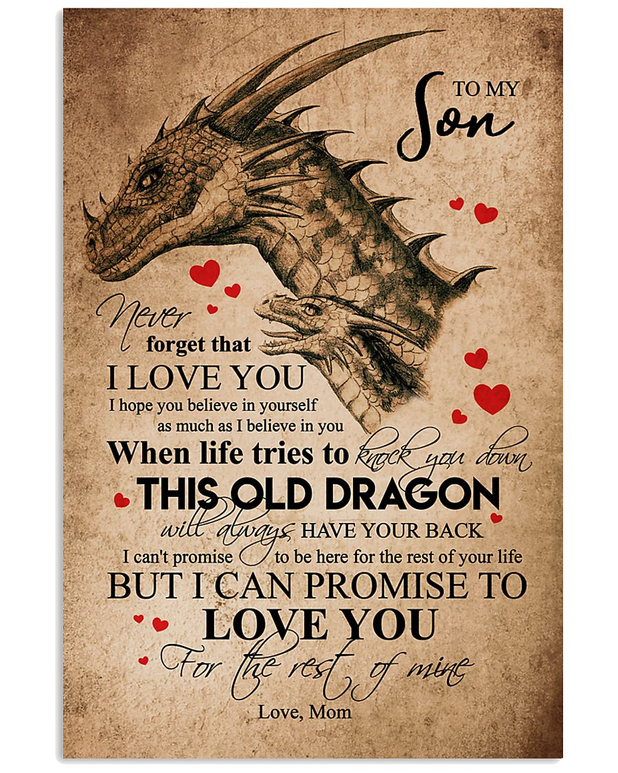 POSTER - TO MY SON - PENCIL DRAGON - OLD DRAGON 16x24 Poster