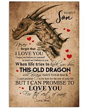 POSTER - TO MY SON - PENCIL DRAGON - OLD DRAGON 16x24 Poster front