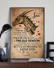 POSTER - TO MY SON - PENCIL DRAGON - OLD DRAGON 16x24 Poster lifestyle-poster-2
