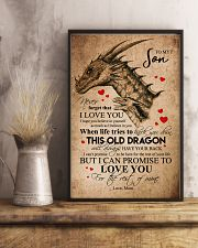 POSTER - TO MY SON - PENCIL DRAGON - OLD DRAGON 16x24 Poster lifestyle-poster-3