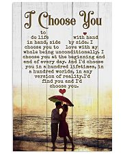HUSBAND AND WIFE - SIDE BY SIDE - I CHOOSE YOU 16x24 Poster front