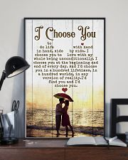 HUSBAND AND WIFE - SIDE BY SIDE - I CHOOSE YOU 16x24 Poster lifestyle-poster-2