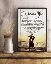 HUSBAND AND WIFE - SIDE BY SIDE - I CHOOSE YOU 16x24 Poster lifestyle-poster-3
