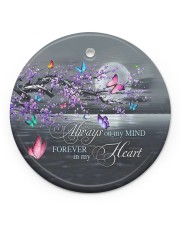 Family - Always On My Mind - Circle Ornament Circle ornament - single (porcelain) front