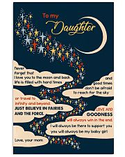 To Daughter - I Love You To The Moon And Back  16x24 Poster front