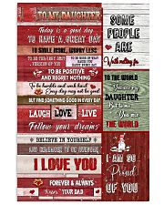 To My Daughter - Christmas - Today Is A Good Day  11x17 Poster thumbnail