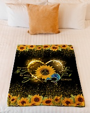 """DOLPHIN - SUNFLOWER - YOU ARE MY SUNSHINE Small Fleece Blanket - 30"""" x 40"""" aos-coral-fleece-blanket-30x40-lifestyle-front-04"""