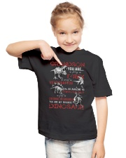 TO GRANDSON - DINOS - FAVORITE Youth T-Shirt lifestyle-youth-tshirt-front-2