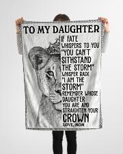 "Gift For Daughter - Fleece Blanket Small Fleece Blanket - 30"" x 40"" aos-coral-fleece-blanket-30x40-lifestyle-front-14"