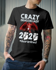 T-SHIRT - CRAZY LADY - DRAGON Classic T-Shirt lifestyle-mens-crewneck-front-6