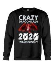 T-SHIRT - CRAZY LADY - DRAGON Crewneck Sweatshirt thumbnail