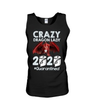 T-SHIRT - CRAZY LADY - DRAGON Unisex Tank thumbnail