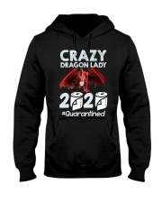 T-SHIRT - CRAZY LADY - DRAGON Hooded Sweatshirt thumbnail