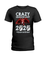 T-SHIRT - CRAZY LADY - DRAGON Ladies T-Shirt thumbnail