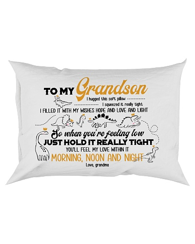 PILLOWCASE - TO MY GRANDSON - DINO - I HUGGED