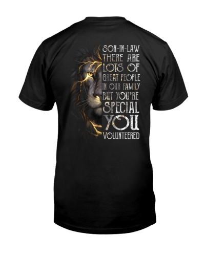 T-SHIRT - SON-IN-LAW - LION - YOU VOLUNTEERED