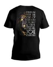 T-SHIRT - SON-IN-LAW - LION - YOU VOLUNTEERED V-Neck T-Shirt thumbnail