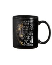 T-SHIRT - SON-IN-LAW - LION - YOU VOLUNTEERED Mug thumbnail