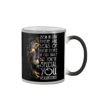 T-SHIRT - SON-IN-LAW - LION - YOU VOLUNTEERED Color Changing Mug thumbnail