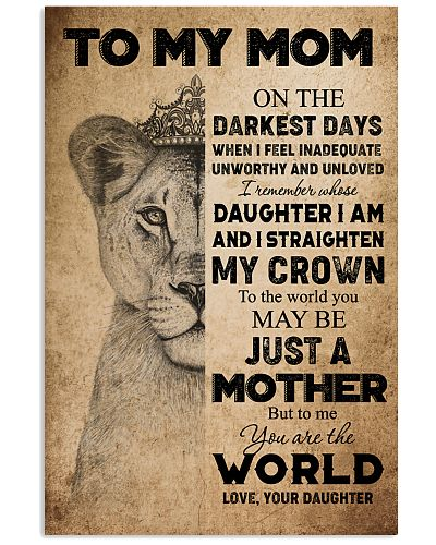 TO MY MOM - LION - YOU ARE THE WORLD