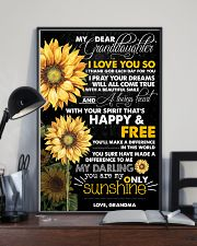 MY DEAR GRANDDAUGHTER 16x24 Poster lifestyle-poster-2