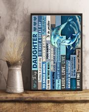 To My Daughter - Dolphin - Life Is Filled 16x24 Poster lifestyle-poster-3