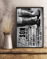 To My Son - Never Forget Who You Are - Poster 16x24 Poster lifestyle-poster-3