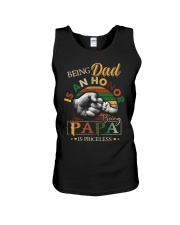 BEING DAD IS HONOR- PAPA IS PRICELESS Unisex Tank thumbnail
