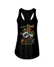 BEING DAD IS HONOR- PAPA IS PRICELESS Ladies Flowy Tank thumbnail