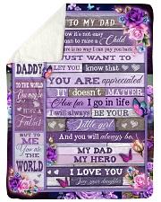 """To My Dad - Fleece Blanket Large Sherpa Fleece Blanket - 60"""" x 80"""" thumbnail"""