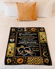 "Grandma to Granddaughter - Fleece Blanket Small Fleece Blanket - 30"" x 40"" aos-coral-fleece-blanket-30x40-lifestyle-front-04"