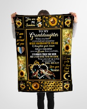 "Grandma to Granddaughter - Fleece Blanket Small Fleece Blanket - 30"" x 40"" aos-coral-fleece-blanket-30x40-lifestyle-front-14"