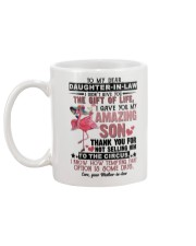 TO MY DAUGHTER-IN-LAW - FLAMINGO - CIRCUS Mug back