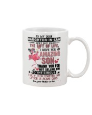 TO MY DAUGHTER-IN-LAW - FLAMINGO - CIRCUS Mug front
