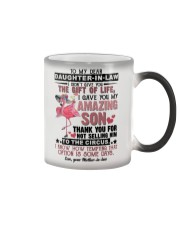 TO MY DAUGHTER-IN-LAW - FLAMINGO - CIRCUS Color Changing Mug thumbnail
