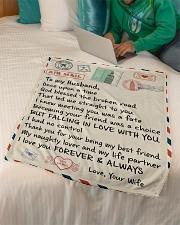 """Gifts for Husband - Fleece Blanket Small Fleece Blanket - 30"""" x 40"""" aos-coral-fleece-blanket-30x40-lifestyle-front-07"""