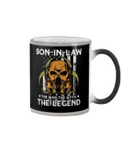SON-IN-LAW - SKULL - THE MAN THE MYTH THE LEGEND Color Changing Mug tile