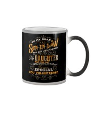 TO MY SON-IN-LAW - VINTAGE - YOU VOLUNTEERED Color Changing Mug thumbnail