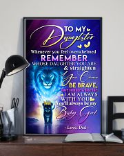 TO MY DAUGHTER - LION - WHENEVER YOU FEEL 16x24 Poster lifestyle-poster-2