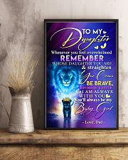TO MY DAUGHTER - LION - WHENEVER YOU FEEL 16x24 Poster lifestyle-poster-3
