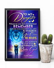 TO MY DAUGHTER - LION - WHENEVER YOU FEEL 16x24 Poster lifestyle-poster-8